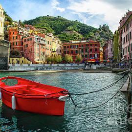 Red Boat Vernazza Cinque Terre  by Wayne Moran