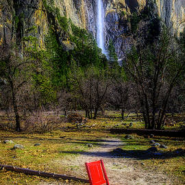 Red Chair At Bridalveil Fall by Garry Gay
