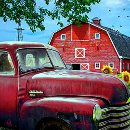 Red Chevrolet by Debra and Dave Vanderlaan
