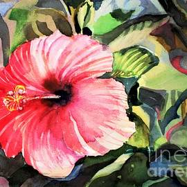 Red Hibiscus by Mindy Newman