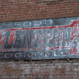 Red Lantern Ghost Sign by Tony Baca