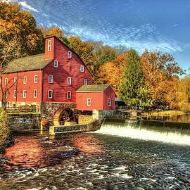 Red Mill Glimpses of Autumn  by Geraldine Scull