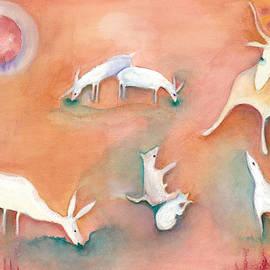 Red Moon of Sacred Animals by Naike Jahgan