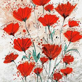 Red Poppies by Barbara Chichester
