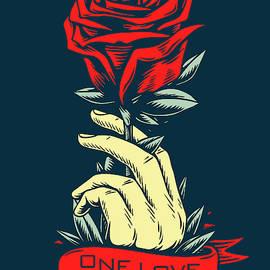 Red Rose One Love by Tony Rubino