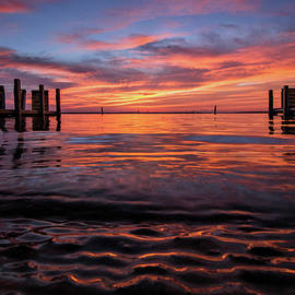 Red Sky At Morning West Boat Launch by Ron Wiltse