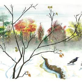Redbud in the Snow by Akosua Sankofa
