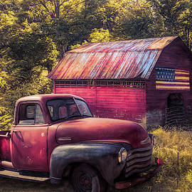 Reds in the Country in Autumn by Debra and Dave Vanderlaan