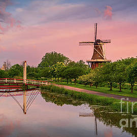 Reflections at Windmill Island, Holland, Michigan by Liesl Walsh