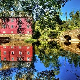 Reflections of the Kingston Mill in South Brunswick New Jersey by Geraldine Scull