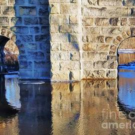 Reflections On A Pair Of Arches, Canton M A by Marcus Dagan