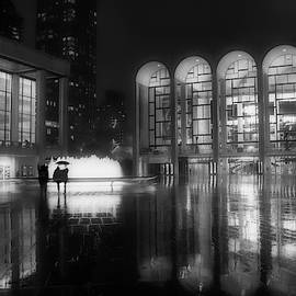 Refuge Under The Umbrella At Lincoln Center by Jacqui Boonstra