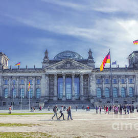 Reichstag Building Seat Of The German Parliament by Stefano Senise