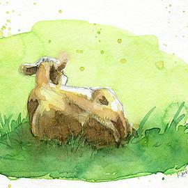 Relaxing cow by Karen Kaspar