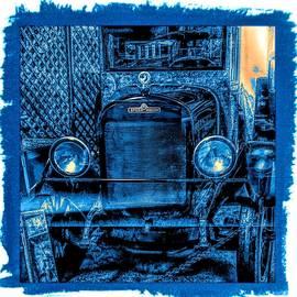 REO Speed Wagon Blue Grunge by Joan Stratton
