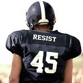 Resistance Football Player by Susan Maxwell Schmidt