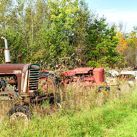 Retired Tractor Line by Linda Cunningham