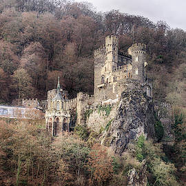 Rheinstein Castle On The Rhine River by Steve Estvanik