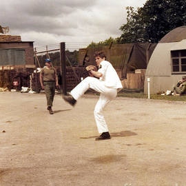 Richard Gere - Pitching A Baseball On Set Of Yanks by Doc Braham