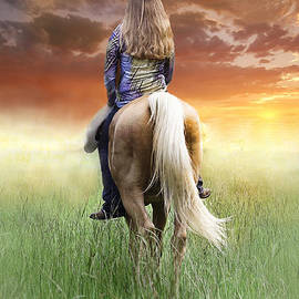 Riding Off Into The Sunset by Karry Degruise