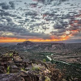 Rio Grande River Sunrise 2 - White Rock New Mexico by Brian Harig