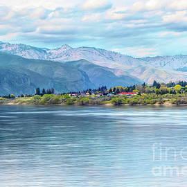 River And Hills by Jean OKeeffe Macro Abundance Art