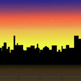 River City Sunset by Kae Cheatham