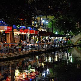 Riverwalk At Night by Kathy McCabe