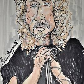 Robert Plant Led Zeppelin by Geraldine Myszenski