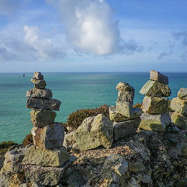 Rock Piles Cligga Head Mine Cornwall by Richard Brookes