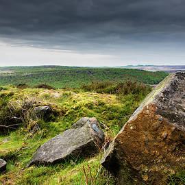 Rocks At Baslow Edge, Derbyshire by Scott Lyons