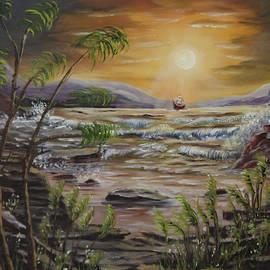 Rocky Shoreline by Irene Clarke