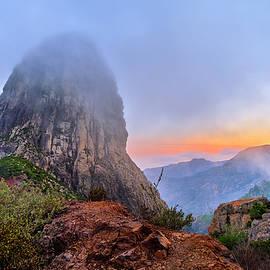 Roque de Agando. Garajonay National Park. La Gomera Island. At sunset by Guido Montanes Castillo