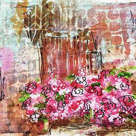Rose Bundle With Copper Pot by Janis Lee Colon
