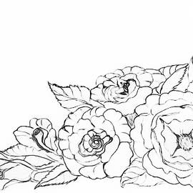 Rose Floral Bouquet PAINT MY SKETCH by Delynn Addams