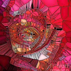 Rose Macro-The Stained Glass Effect. by Trudee Hunter