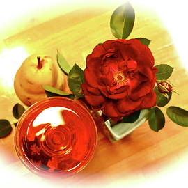 Rose, Rose and Pear by Bonnie See