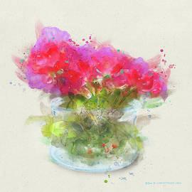 Roses In A Jar Watercolor