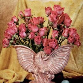 Roses in Pink Vintage Vase by Sandra Selle Rodriguez