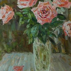 Roses on the bench by Nikolay Dmitriev