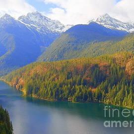 Ross Lake North Cascade Mountains Washington State by Art Sandi