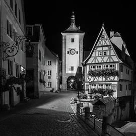 Rothenburg ob Tauber Clock Tower by Norma Brandsberg