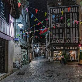 Rouen At Night by Randy Scherkenbach