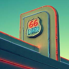 Route 66 Diner Neon Nostalgia by Matt Richardson