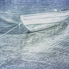 Rowboat in Cool Grays by Debra and Dave Vanderlaan