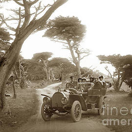 Royal Tourist Touring Car Model G3 At Cypress Grove In Pebble Beach Circa 1906 by California Views Archives Mr Pat Hathaway Archives