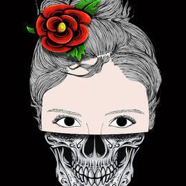 Rubino Skull Woman Face by Tony Rubino