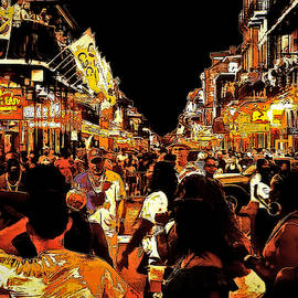 Rue Bourbon Abstract by Jeff Watts