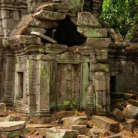 Ruined Structure at Preah Khan Temple by Bob Phillips