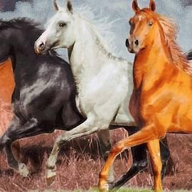 Running Horses by Karim Alhalabi